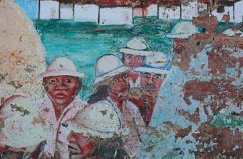 "2011 photo ""Miner Mural, Detail (Superior, Arizona)"" by Cobalt123"