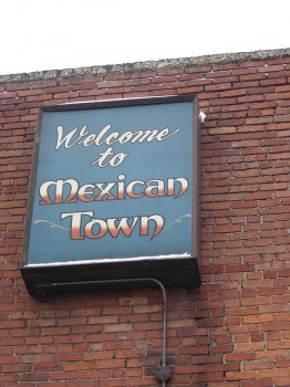 "Photo of sign reading ""Mexican Town"""