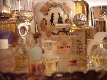 photo of perfume bottles