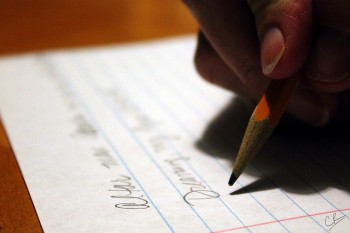 """Writing? Yeah."" by Caleb Roenigk. CC BY 2.0"