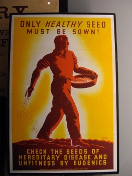 photo of eugenics poster that warns viewers to check for supposedly defective hereditary seed